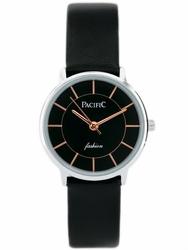 Czarny Damski zegarek na pasku PACIFIC EPIC zy576d - nowość