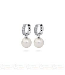 FC Kolczyki z perłą wiszące FLORENZO QC 3061021106 PM 10 kolor biały