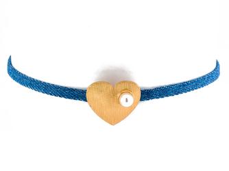 Choker drobny serce - serce