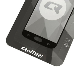 Qoltec Hartowane szkło ochronne Premium do Samsung Galaxy S7   pełne      czarne