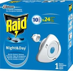Raid NightDay, zapas do urządzenia elektrycznego przeciw komarom i muchom, czas działania 10 dni