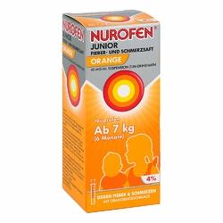 Nurofen Junior Fieb.+schmerzsaft Orange 40mgml