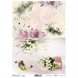 Papier ryżowy ITD A4 R1358 kwiaty bukiet