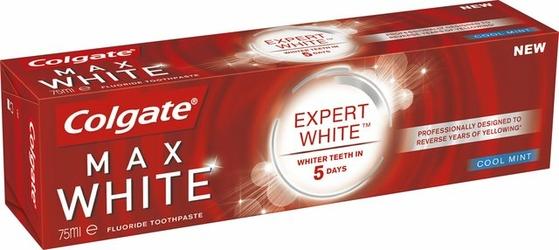 Colgate MaxWhite, Expert White, Coolmint, pasta do zębów, 75 ml