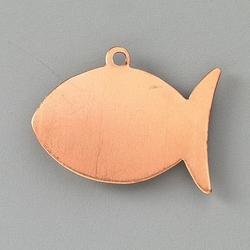 Metalowa zawieszka Efcolor - ryba 30x22 mm - RB30