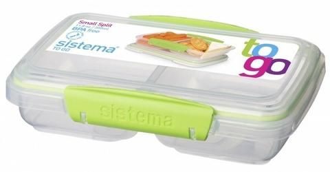 Dzielony pojemnik na żywność Sistema Split To Go, 350 ml, zielony - Zielony