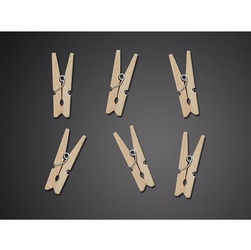 Drewniane klamerki 30 mm20szt. - naturalny