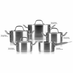Garnki - Zestaw do gotowania ze stali nierdzewnej.