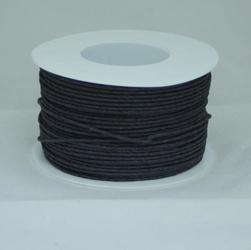 Ozdobny sznurek papierowy z drutem - czarny - CZA