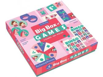 KSIĘŻNICZKI zestaw gier 4w1 memo bingo domino koło fortuny