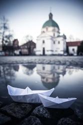 Warszawa Nowe Miasto - plakat premium Wymiar do wyboru: 70x100 cm