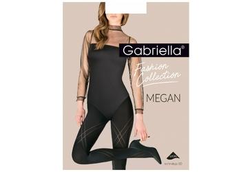 Megan XL 423 GABRIELLA czarne rajstopy ze wzorem