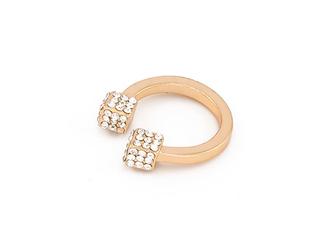 Pierścionek cubes gold - GOLD
