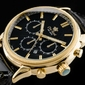 czarny zegarek meski na pasku skórzanym GINO ROSSI - KAISER zg015k