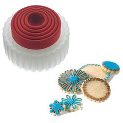 Foremki do ciastek okrągłe ząbkowane, 5szt. Cuisipro CU-74709405