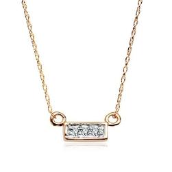 naszyjnik złoto i naturalne diamenty