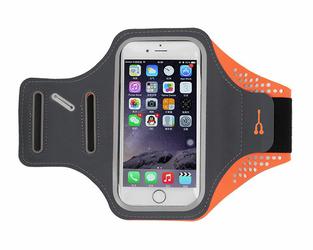 Etui na ramię sportowe do biegania wodoodporne 4.7 cala pomarańczowe - Pomarańczowy