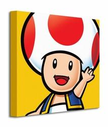 Super Mario Toad - Obraz na płótnie