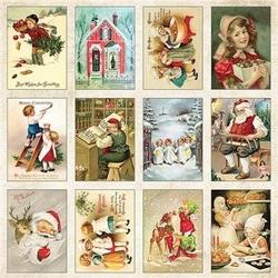 Świąteczne etykietki Vintage Christmas 30x30 cm - 07 - 07