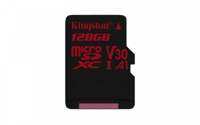 Kingston microSD 128GB Canvas React 10080MBs UHS-I U3 V30 A1