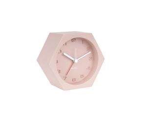 Karlsson :: Budzik Hexagon Concrete różowy - różowy