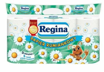 Regina, Rumiankowy papier toaletowy, 3 warstwy, 8 rolek