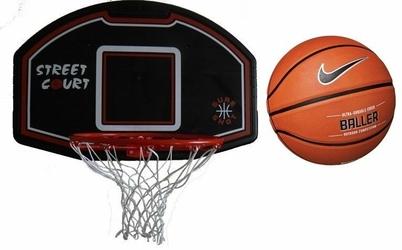 Zestaw do kosza 506 Bronx Sure Shot + Piłka do koszykówki Nike Baller 8P