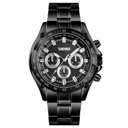 Zegarek męski SKMEI 1366 BRANSOLETA blackblack - blackblack