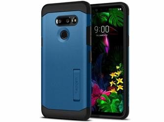 Etui Spigen Tough Armor LG G8 ThinQ Blue - Niebieski