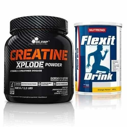 Creatine Xplode - 500g + Flexit Drink - 400g - Pineapple  Strawberry