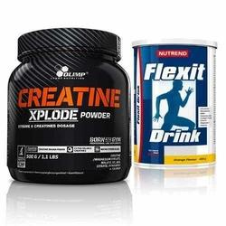 Creatine Xplode - 500g + Flexit Drink - 400g - Pineapple  Strawberry