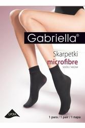Gabriella 601 microfibra bezuciskowe smoky skarpetki