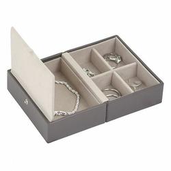 Pudełko na biżuterię podróżne Travel Box Stackers ciemnoszare