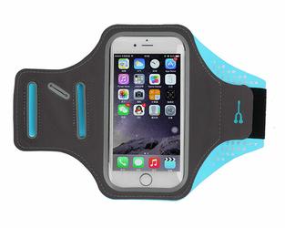 Etui na ramię sportowe do biegania wodoodporne 5.5 cala niebieskie - Niebieski