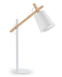 Lampa biurkowa EJE biała - czarny || biały