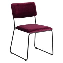Krzesło nowoczesne Lili bordowy