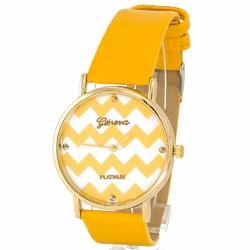 Zegarek zig zag żółty - żółty