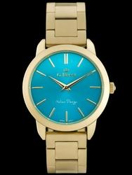 Damski turkusowo zloty zegarek bransoleta G.ROSSI - 10659B zg684c