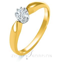 Pierścionek zaręczynowy - wzór Au-Pz-106