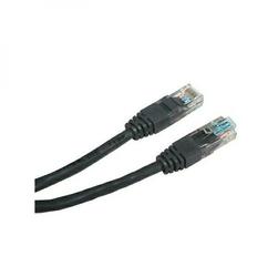 UTP patchcord UTP patchcord, Cat.5e, RJ45 M-0.5m, nieekranowany, czarny, Logo, LOGO bag