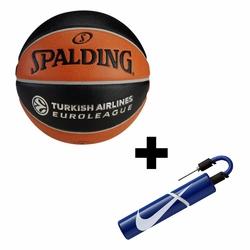 Piłka Spalding TF-1000 Legacy Euroleague + Pompka Nike Essential