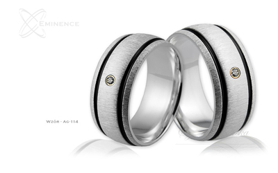 Obrączki srebrne - wzór Ag-114