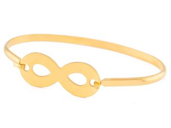 Bransoletka stal nierdzewna złota nieskończoność - złota nieskończoność