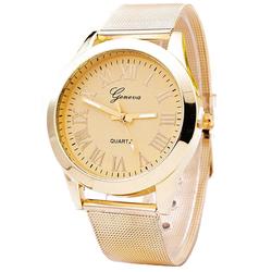 Zegarek damski GENEVA klasyczny mesh ZŁOTY - złoty I