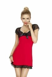 Dkaren Irina czerwono-czarna Koszula nocna