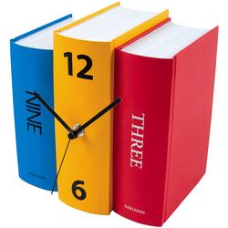 Zegar stołowy Book Karlsson kolorowy KA4284
