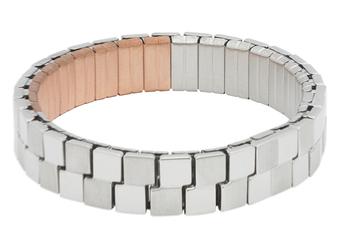 bransoletka magnetyczna 2874-1 z polerowanymi elementami i miedzią