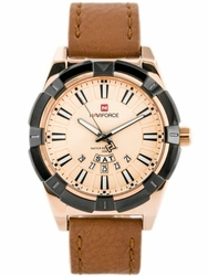 Męski zegarek NAVIFORCE - NF9118 zn054e - camelrosegold