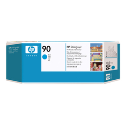 Głowica drukująca HP 90 DesignJet: błękitny i moduł czyszczenia głowicy