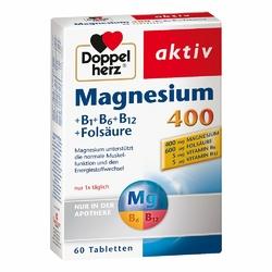 Doppelherz magnez 400mg+ wit.B+ kwas foliowy tabletki